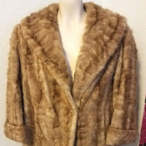 Jackets & Blazers - VINTAGE REAL Fur Coat. With Fur Label Auth 1950's